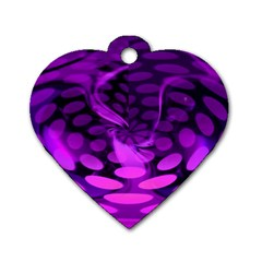 Abstract In Purple Dog Tag Heart (two Sided)