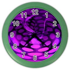 Abstract In Purple Wall Clock (Color)