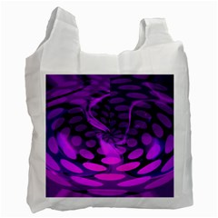 Abstract In Purple White Reusable Bag (One Side)