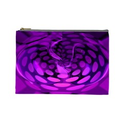 Abstract In Purple Cosmetic Bag (large)