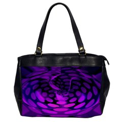 Abstract In Purple Oversize Office Handbag (one Side)