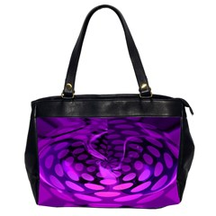 Abstract In Purple Oversize Office Handbag (Two Sides)