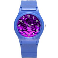 Abstract In Purple Plastic Sport Watch (small)
