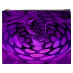 Abstract In Purple Cosmetic Bag (xxxl)