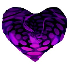 Abstract In Purple 19  Premium Heart Shape Cushion