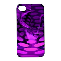 Abstract In Purple Apple Iphone 4/4s Hardshell Case With Stand