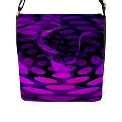 Abstract In Purple Flap Closure Messenger Bag (large)