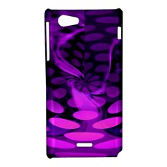 Abstract In Purple Sony Xperia J Hardshell Case
