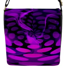 Abstract In Purple Flap Closure Messenger Bag (small)