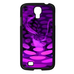 Abstract In Purple Samsung Galaxy S4 I9500/ I9505 Case (Black)