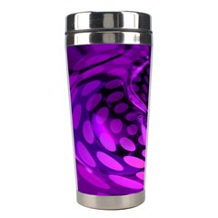 Abstract In Purple Stainless Steel Travel Tumbler