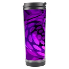 Abstract In Purple Travel Tumbler