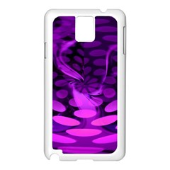 Abstract In Purple Samsung Galaxy Note 3 N9005 Case (White)