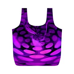Abstract In Purple Reusable Bag (M)