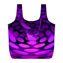 Abstract In Purple Reusable Bag (L)