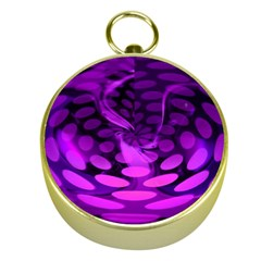 Abstract In Purple Gold Compass
