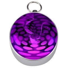 Abstract In Purple Silver Compass