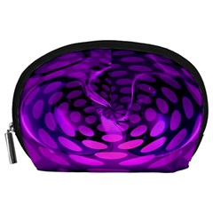 Abstract In Purple Accessories Pouch (Large)