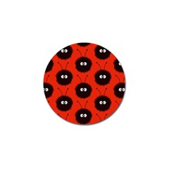 Red Cute Dazzled Bug Pattern Golf Ball Marker 4 Pack