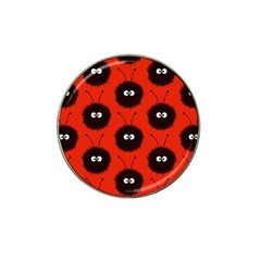 Red Cute Dazzled Bug Pattern Golf Ball Marker 4 Pack (for Hat Clip)