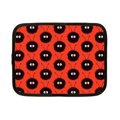 Red Cute Dazzled Bug Pattern Netbook Sleeve (small)