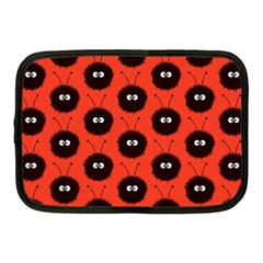 Red Cute Dazzled Bug Pattern Netbook Sleeve (medium)