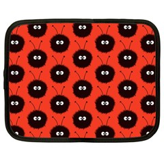 Red Cute Dazzled Bug Pattern Netbook Sleeve (xxl)