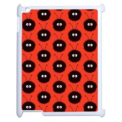 Red Cute Dazzled Bug Pattern Apple Ipad 2 Case (white)