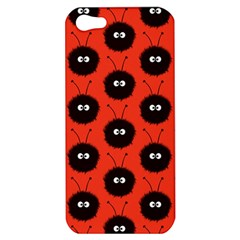 Red Cute Dazzled Bug Pattern Apple Iphone 5 Hardshell Case