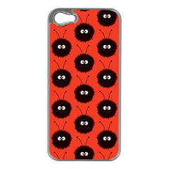 Red Cute Dazzled Bug Pattern Apple Iphone 5 Case (silver)