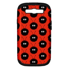 Red Cute Dazzled Bug Pattern Samsung Galaxy S Iii Hardshell Case (pc+silicone)