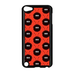 Red Cute Dazzled Bug Pattern Apple Ipod Touch 5 Case (black)