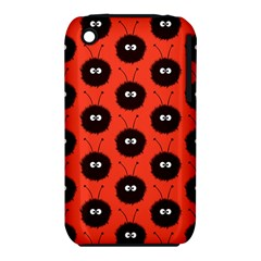 Red Cute Dazzled Bug Pattern Apple Iphone 3g/3gs Hardshell Case (pc+silicone)
