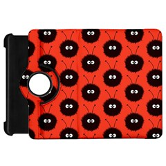 Red Cute Dazzled Bug Pattern Kindle Fire HD 7  (1st Gen) Flip 360 Case
