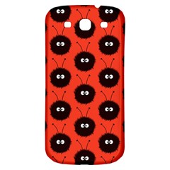 Red Cute Dazzled Bug Pattern Samsung Galaxy S3 S Iii Classic Hardshell Back Case