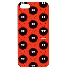 Red Cute Dazzled Bug Pattern Apple Iphone 5 Hardshell Case With Stand