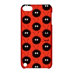 Red Cute Dazzled Bug Pattern Apple Ipod Touch 5 Hardshell Case With Stand