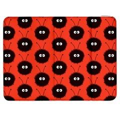Red Cute Dazzled Bug Pattern Samsung Galaxy Tab 7  P1000 Flip Case