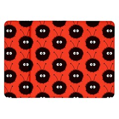 Red Cute Dazzled Bug Pattern Samsung Galaxy Tab 8 9  P7300 Flip Case
