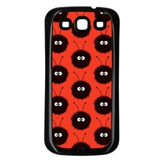 Red Cute Dazzled Bug Pattern Samsung Galaxy S3 Back Case (black)