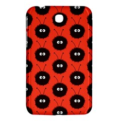Red Cute Dazzled Bug Pattern Samsung Galaxy Tab 3 (7 ) P3200 Hardshell Case