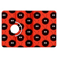 Red Cute Dazzled Bug Pattern Kindle Fire HDX 7  Flip 360 Case