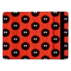 Red Cute Dazzled Bug Pattern Samsung Galaxy Tab Pro 12 2  Flip Case