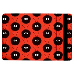 Red Cute Dazzled Bug Pattern Apple iPad Air Flip Case