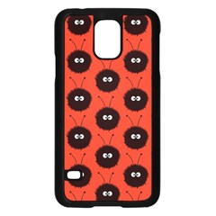Red Cute Dazzled Bug Pattern Samsung Galaxy S5 Case (Black)