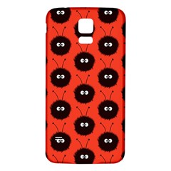 Red Cute Dazzled Bug Pattern Samsung Galaxy S5 Back Case (white)