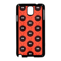 Red Cute Dazzled Bug Pattern Samsung Galaxy Note 3 Neo Hardshell Case (Black)