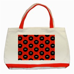 Red Cute Dazzled Bug Pattern Classic Tote Bag (Red)