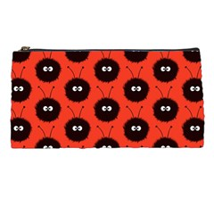 Red Cute Dazzled Bug Pattern Pencil Case