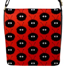 Red Cute Dazzled Bug Pattern Flap Closure Messenger Bag (small)